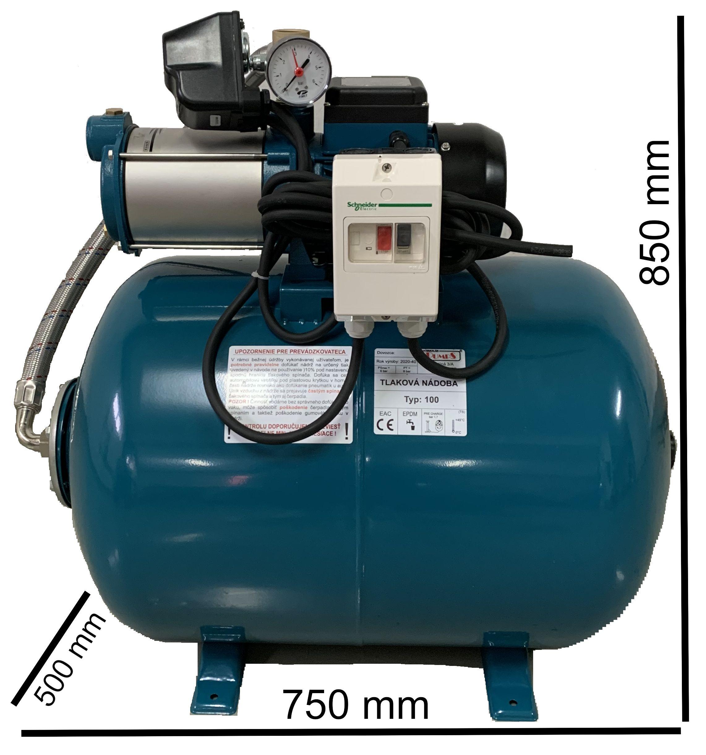 Domáca Vodáren MH1300 Inox / 100L - 400 V